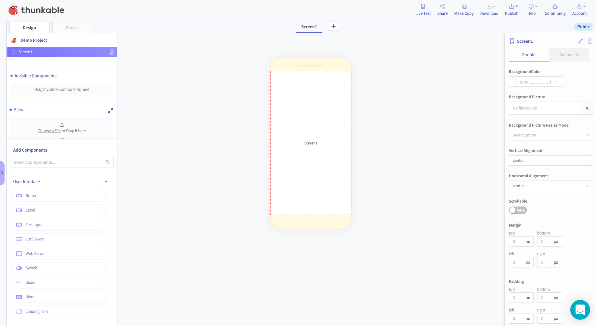 Making an App with Thunkable